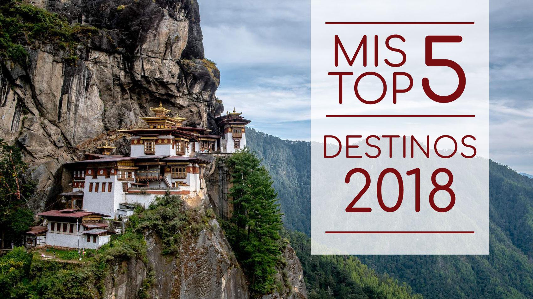 Top 5 destinos para 2018