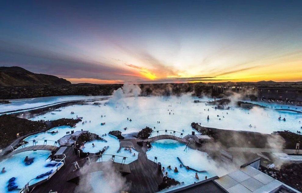 Islandia - Vista aerea de la Blue Lagoon